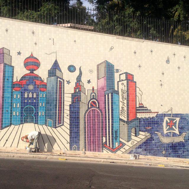 Mural cerâmico de André Saraiva